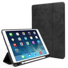 Voulttom Case for ipad 9.7 inch 2018 2017 Case with Pencil Holder Lightweight Soft TPU Back Protective Stand Tablet Fundas стоимость