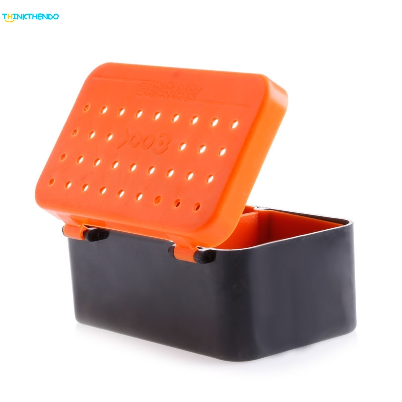 Fishing Baits Earthworm Lure Storage Case Fishing Tackle Box Double Layer A