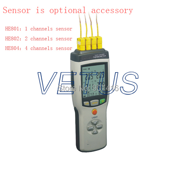 HE801 Thermocouple Thermometer with Data Logging Max Hold and Data Hold Recoder Handle hold type data logger,Switch C/F mastech ms6514 dual channel digital thermometer temperature logger tester usb interface 1000 set data k j t e r s n thermocouple