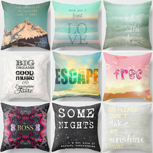 Hot sale letters topic creative love picture Pillow case square love letters  pillow cover size 45*45cm женское платье time love letters