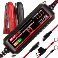 MOTOPOWER 2AMP Automatic Smart 12V Car Battery Charger for both Lead Acid Batteries and Lithium Ion Batteries Motorcycle Boat