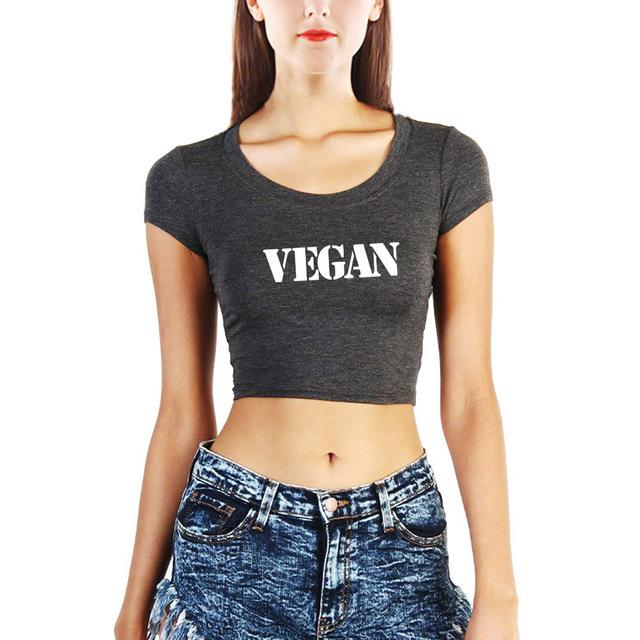 Vegan Printed Women's Workout Crop Top