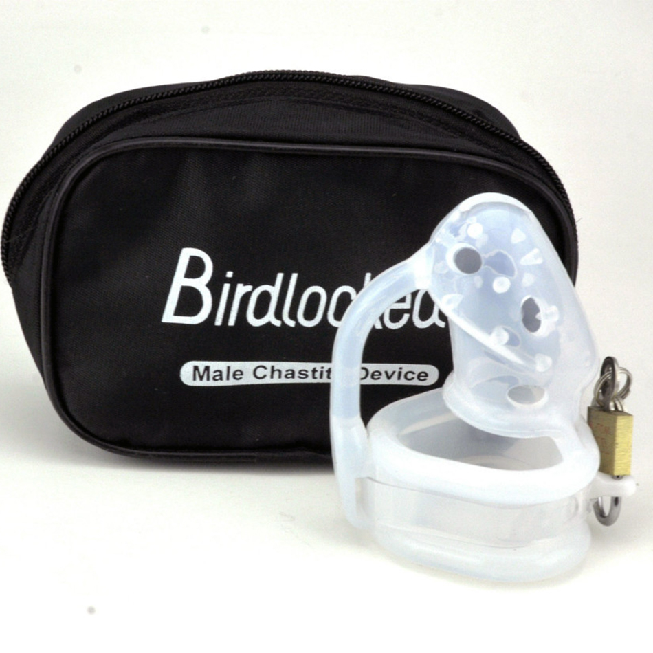 Barbed Silicone Male Chastity Device Cock Cage Bird Lock Short Penis Sleeve Dick Cage Sex Toys For Men top silicone penis sleeve extender enlargement male chastity sex toys extension cock sleeves dick sock reusable condoms for men