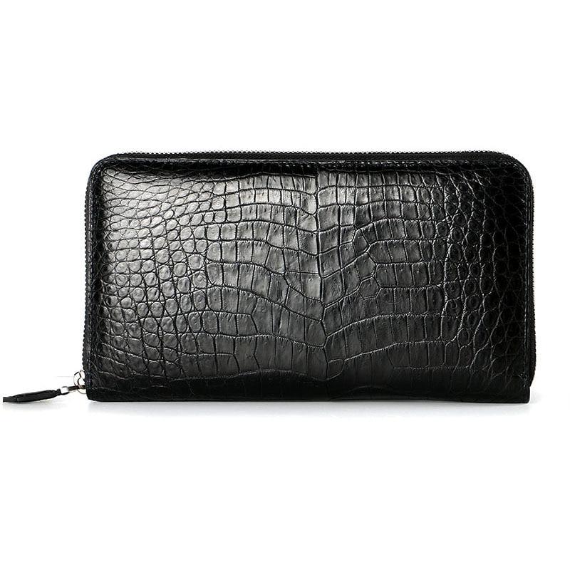 Präge Männer Black coffee Alligator Neue Krokodil Geldbörse Brieftaschen Kupplung Lange Brieftasche 2018 Mode q0ZwW