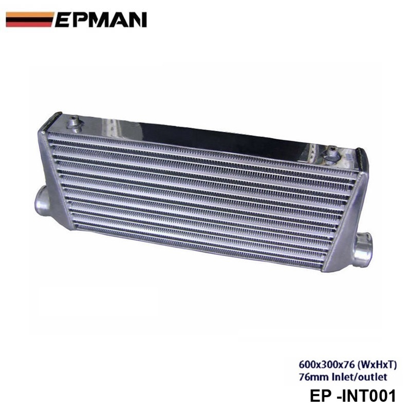 Intercooler (600*300*76 mm) OD:76mm EP-INT001 epman intercooler for toyota starlet ep82 91 ic 600 263 70mm od 63mm ep int0015