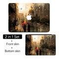 "Rain Drop on Window Art Top+Bottom Full Cover Skin Laptop Sticker for MacBook Air Pro Retina 11"" 12"" 13"" 15""  Mac Notebook Decal"