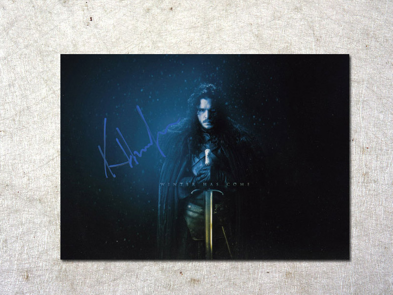 signed Kit Harington Game of Thrones autographed original photo 7 inches free shipping  092017D signed kobe bryant autographed original photo 7 inches free shipping 08201709