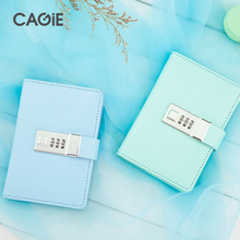 Password Notebook  Paper Lockable Portable Book PU Leather Diary Lock Traveler Journal Weekly Planner School Stationery Gifts стоимость