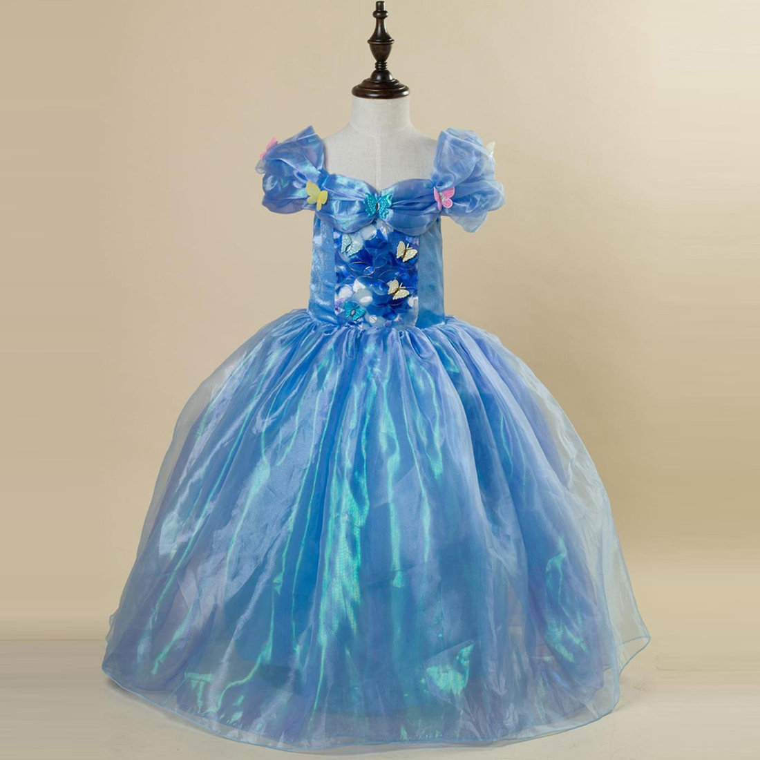 Princess Cinderella Wedding Dress Costume For: Summer Baby Girls Dresses 2016 Princess Cinderella Dress