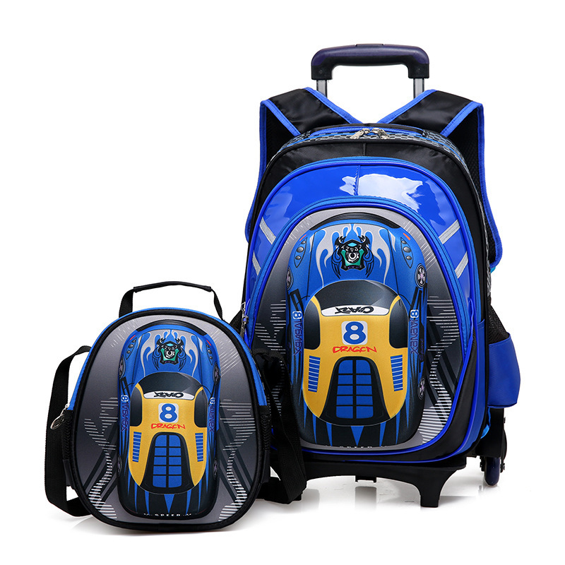 2017 Boys Trolley Children School Bags Classic Travel Bag On Wheels Kids Rolling Orthopedic Schoolbag Backpack Girl Book Bags Sa behavioral problems on school children