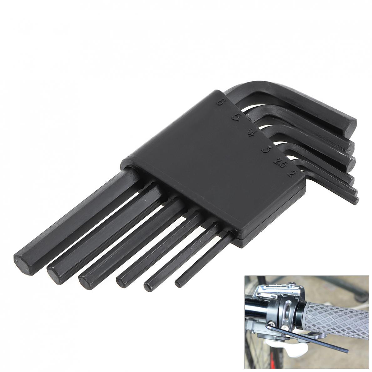 Hex Allen Key Kit Wrench Set Steel Spanner Black Bike Reparing Tool Set