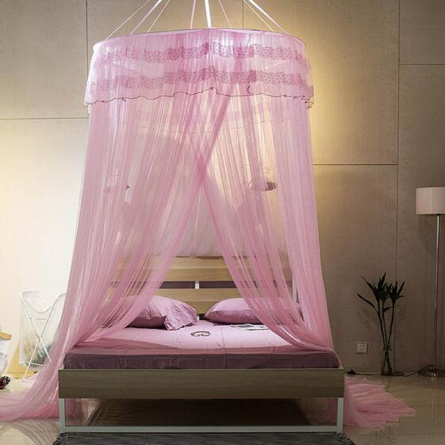 Princess Romantic Mosquito Net Bed Canopy Circular 4 colors Double Lace Dome Moskito net Single- & Princess Romantic Mosquito Net Bed Canopy Circular 4 colors Double ...