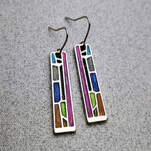 Vintage Dangle Earring Women Bohemian Tribal Hollow Metal Floral Long Earrings Geometric Colorful New Style Hot