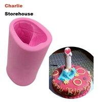 Cakevorm 1 ST 3D Penis Vorm Siliconen Cakevorm Sex speelgoed taart fondant schimmel zeep chocolade decorating bakken tool diy Mold
