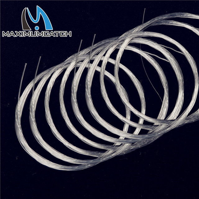 Maximumcatch 10 Pieces Tapered Leader  Fly Fishing Line 9ft / 12ft / 15ft 0X-7X Nylon Fly Fishing Leader Clear