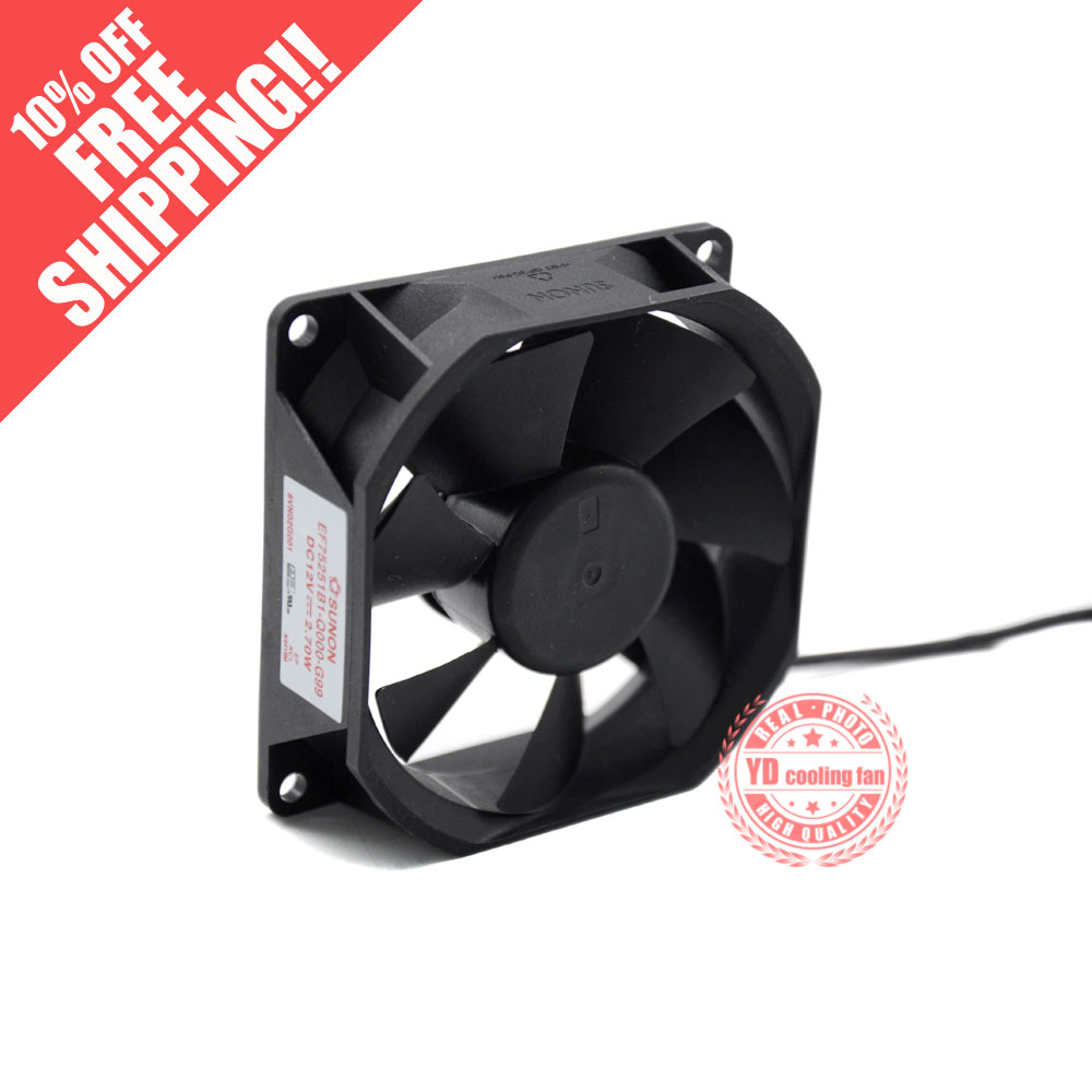 brand new SUNON EF75251B1-Q000-G99 Projector 12V 2.70W 7CM 7525 cooling fan free shipping for sunon mf75251v1 q000 g99 dc 12v 2 7w 3 wire 3 pin connector 90mm server square cooling fan