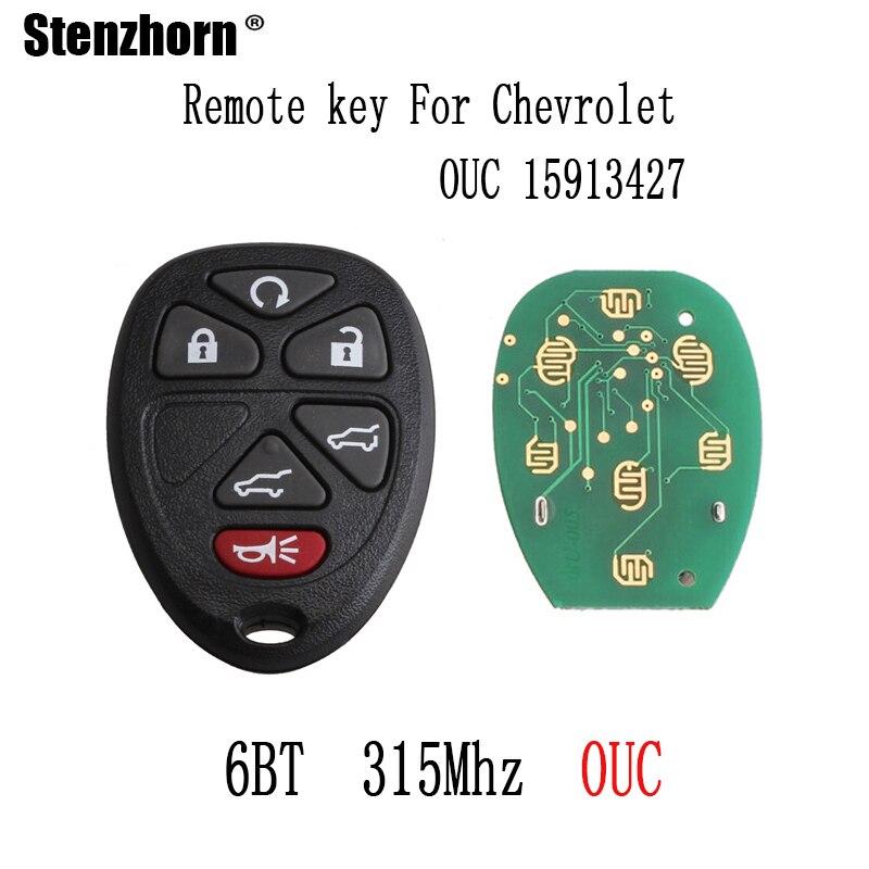 Stenzhorn 2pcs*Remote key For Chevrolet Tahoe Traverse GMC Yukon 2007 2008 2009 2010 2011 2012 2013 2014 Original keys 315Mhz