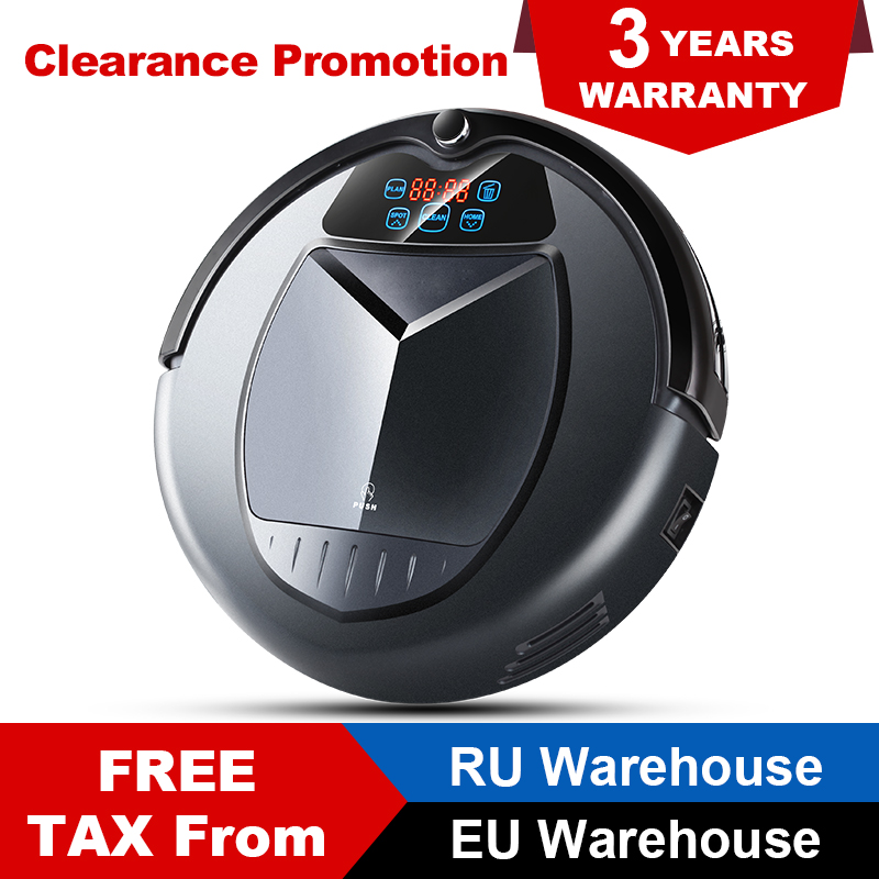 LIECTROUX B3000 Robot Vacuum Cleaner Virtual Blocker Self Charge LED Touch Screen Designed for Hard Floor