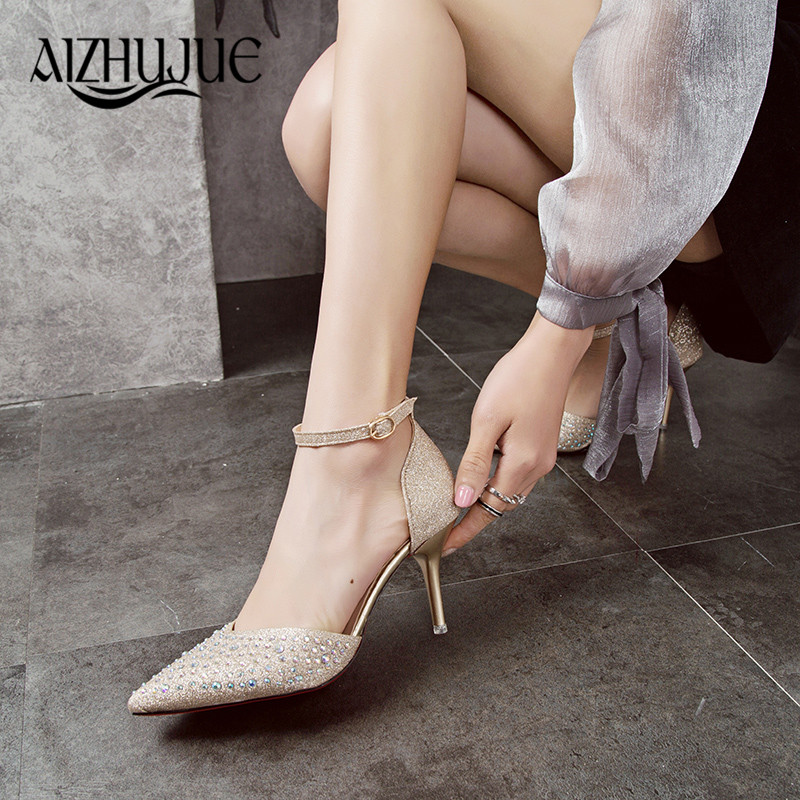 Women Pumps Sexy High Heels Shoes Woman Silver Rhinestone Wedding Shoes High Heels Party Shoes Summer Hight Heels Sandals труборез ridgid 101 40617