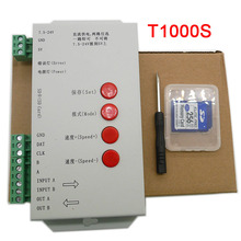 New T1000S Controller for WS2801 WS2811 WS2812B LPD6803 LED 2048 RGB Pixels strip light with 128 SD Card,DC5~24V t1000s sd card ws2801 apa102 ws2811 ws2812b lpd6803 led 2048 pixels controller dc5 24v t 1000s rgb controller