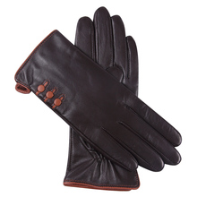 Touchscreen Woman Gloves Winter Leather Gloves Female Plus Velvet Thicken Keep Warm Windproof Driving Genuine Leather L18002NC