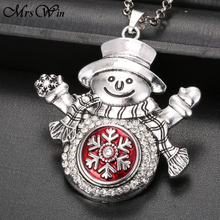 Christmas Snap Jewelry Gift Snowman Button Pendant Fit 18mm metal snap button jewelry watches women