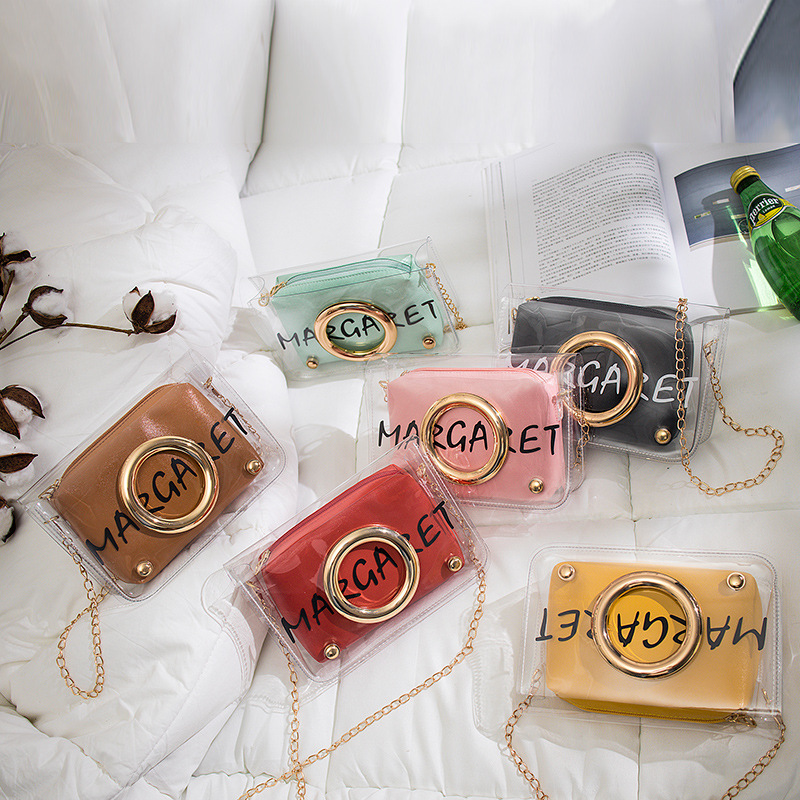 Transparent Jelly Bag Women Shoulder Bag Handbags 2019 Mini Mobile Phone Change Purse Chain Crossbody Messenger Bag For Teenage