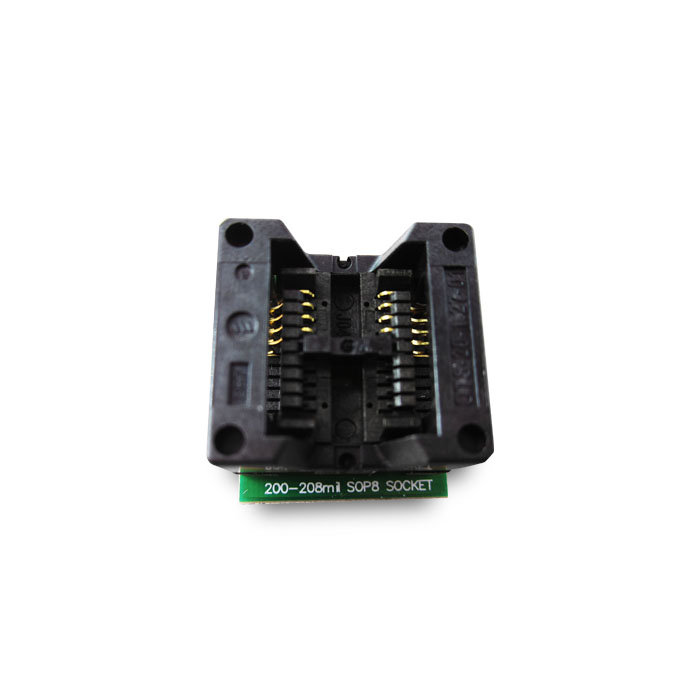 HAILIANGNIAO 1PCS/lot 200mil 208mil Wide SOP8 to DIP8 IC socket Programmer adapter Socket OTS-20-1.27-01 for 25xx eeprom flash free shipping sop32 wide body test seat ots 32 1 27 16 soic32 burn block programming block adapter