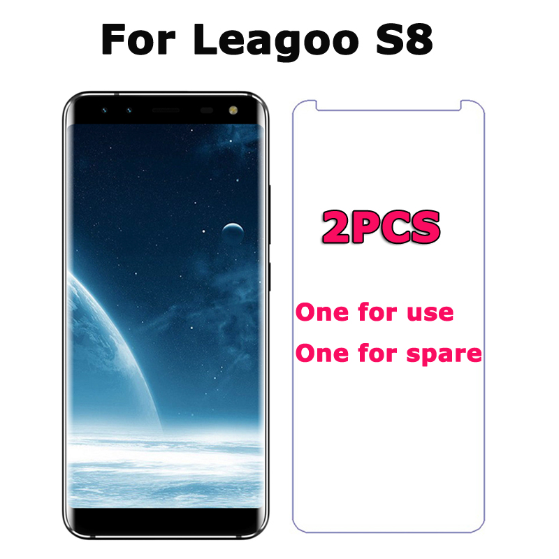 2PCS Leagoo S8 Tempered Glass For Leagoo S8 5.72 Screen Protector 9H 2.5D Premium Ultra-thin Guard Film Leagoo S8 3GB 32GB