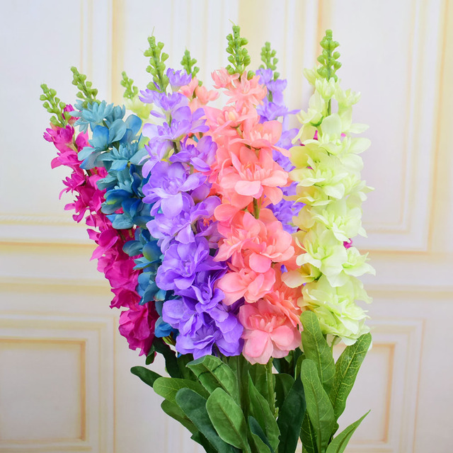 Silk Hyacinth artificial flowers delphinium for party home wedding ...