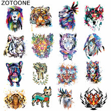 ZOTOONE Cool Animal Patches Small Size Iron on Transfer Diy Accessory Clothing Bags Deco Washable Badges Heat C