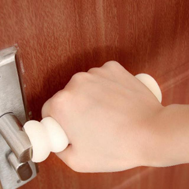 Spiral Shape Rubber Foam Baby Children Safety Door Handle Protective Cover Anti-Collision Knob For Diameter 1.9-3.5mm Of Door