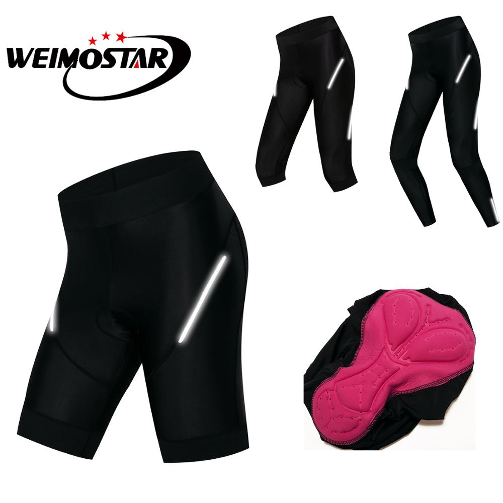 2019 Cycling Shorts Women Mountain Bike Bermuda Shorts 3D Gel Pad Coolmax Cycling Shorts Sport MTB Black Bicycle Trousers S-XXXL