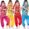 Бесплатная доставка топ + Брюки Дети Танец Живота Костюмы Танец Живота платье Девушки Производительность Бальные танцевальная одежда