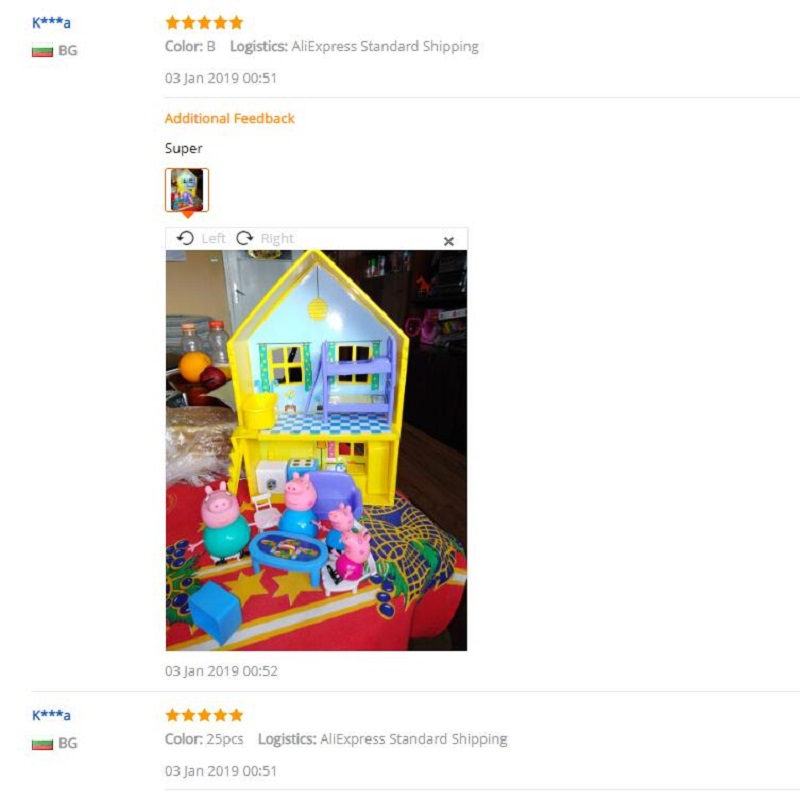 Peppa Pig George Family Real Scene Model Amusement Park PVC Toys Doll Action Figures Learning Educational Toys
