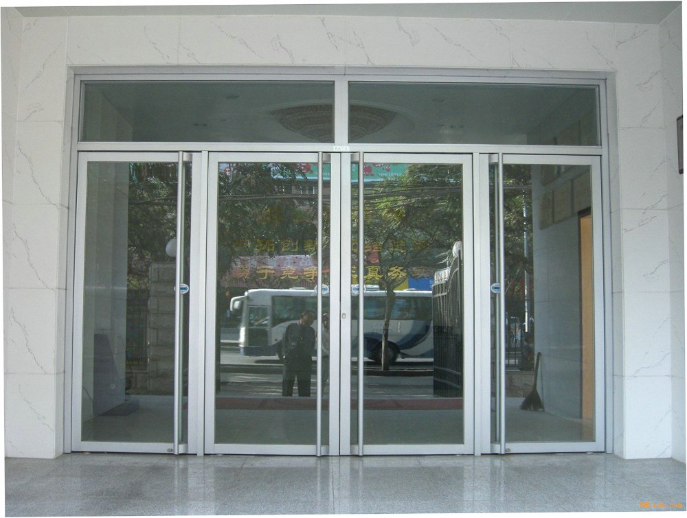 Aluminum frame glass door for store front ms 1121 in doors for Aluminum sliding glass doors