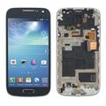 Cor azul para samsung s4 mini i9190 i9195 lcd de toque digitador da tela com moldura assembléia replacements frete grátis