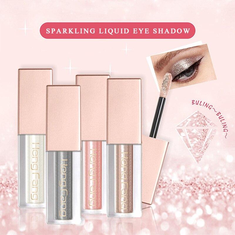Hengfang Cosmetics Makeup Liquid Eyeshadow Glitter Shimmer Eye Shadow Long Lasting Metallic Pigment Eye Liner Pencil Make Up