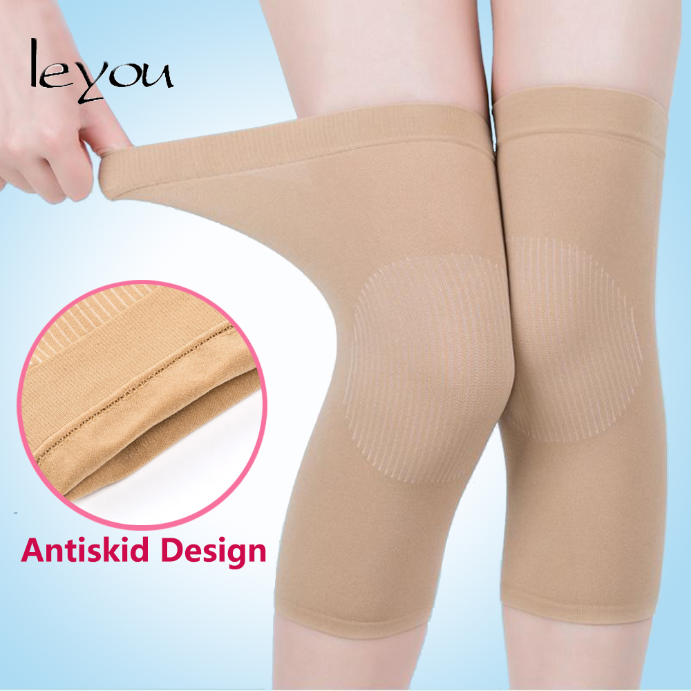 Women Thin Knee Pads Knee Protector For Air-conditioned Room Warm Elastic Knee Pad Knee Compression Sleeve Support