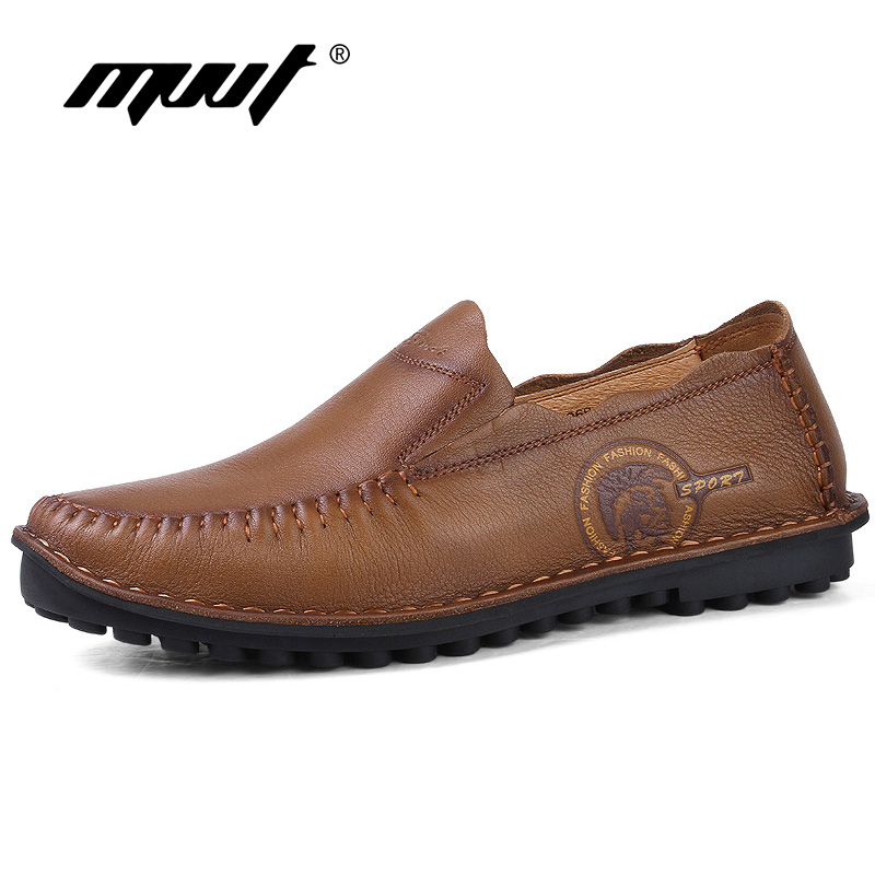Genuine Leather Men Casual shoes Handmade Men Flats Shoes,Fashion Loafers Shoes,Plus Size Moccasins For Men genuine leather men casual shoes plus size comfortable flats shoes fashion walking men shoes