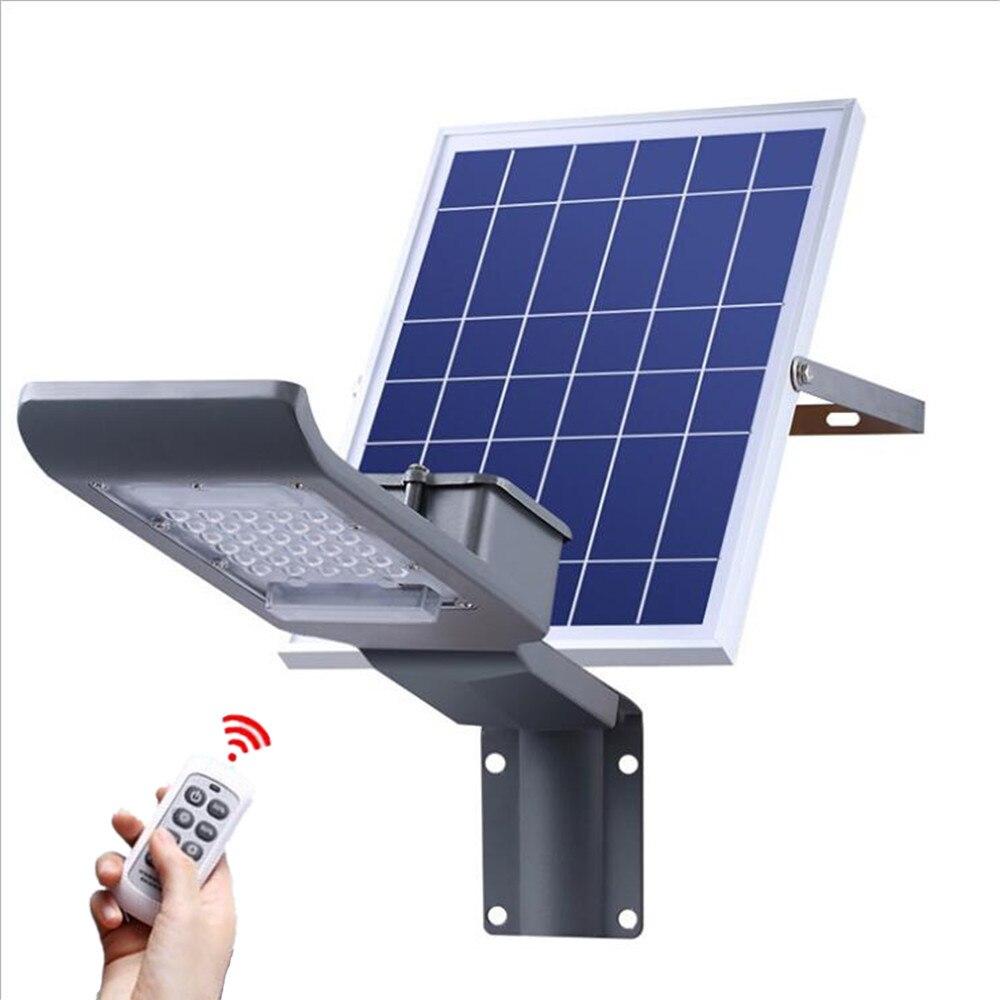 controle remoto 30 w smd3030 solar ao ar livre iluminacao solar luz de rua a prova