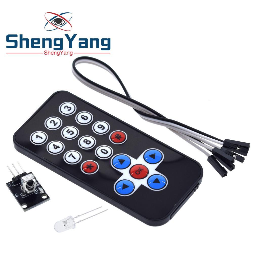 1 Lot Shengyang Infrarot Ir Drahtlose Fernbedienung Modul Kits Diy Kit Hx1838 Für Arduino Raspberry Pi