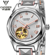 2016 New CADISEN To Brand Luxury Watch Women Automatic Mechanical Watch Waterproof Tungsten steel Women Watches relogio feminino