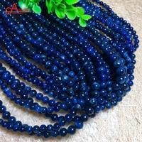 Aladdin Top Quality Natural Kyanite Bracelet 5mm Beads Cyanite Blue Crystal Positive Energy Bangle Men/Women Family jewelry gift