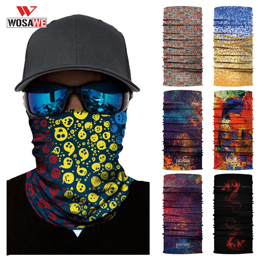WOSAWE Motorcycle Mask Balaclava Face Shield Neck Warmer Face Warmer Balaklava Cycling Motocicleta Masquerade Motorbike Headband