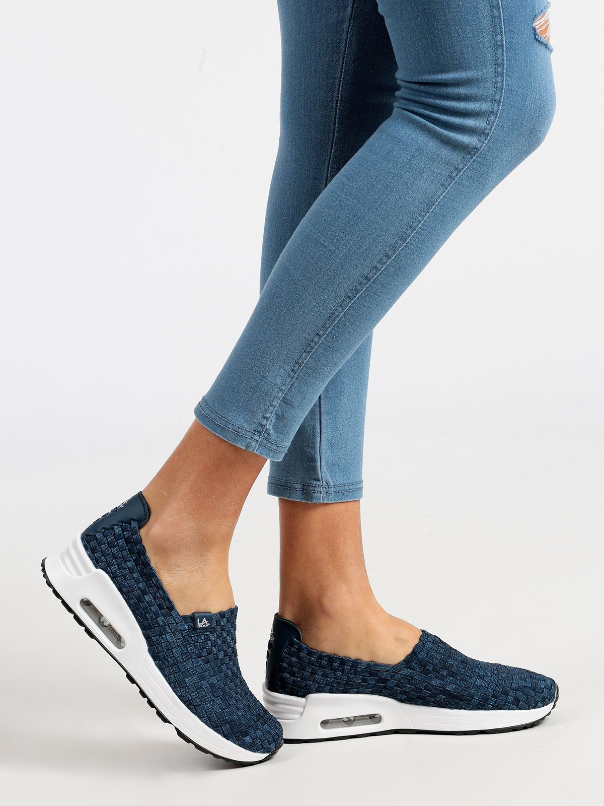 Slip On Sneakers Effect Jeans