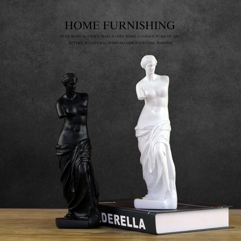 Black white Creative resin abstract Venus figurines study vintage Venus statue home decor office crafts room decoration objectsBlack white Creative resin abstract Venus figurines study vintage Venus statue home decor office crafts room decoration objects