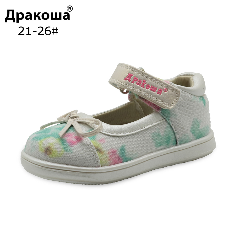 Apakowa Summer Kids Shoes Toddler Girls Sandals Leather Insole Arch Support Kids Girls Sandals Girls Flats Orthopedic Shoes