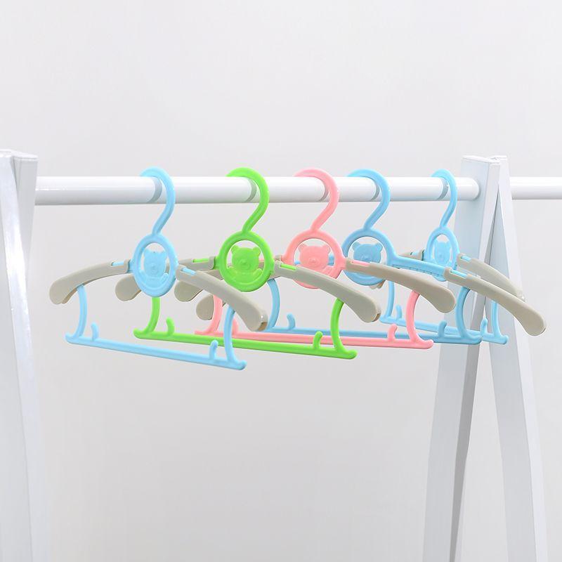 28.5cm 10pcs/lot Children baby hangers for clothes rack slip-resistant seamless baby clothes hanger Telescopic hanger