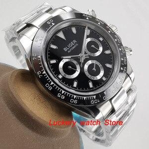 Image 4 - Reloj bliger de 39mm, esfera negra, multifunción, fecha de semana, movimiento automático, watch BA123 para hombres